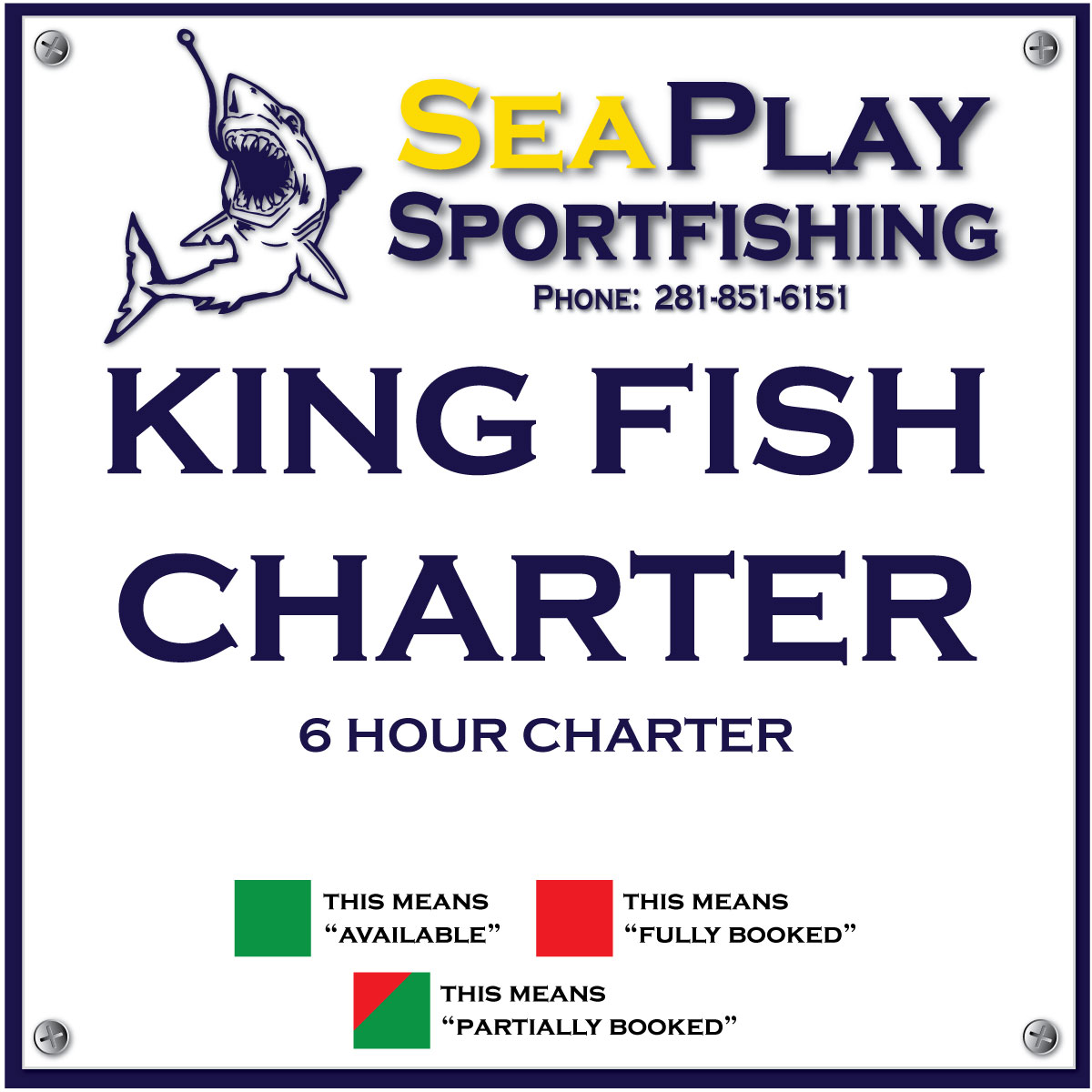 King Fish 6 hour Charter