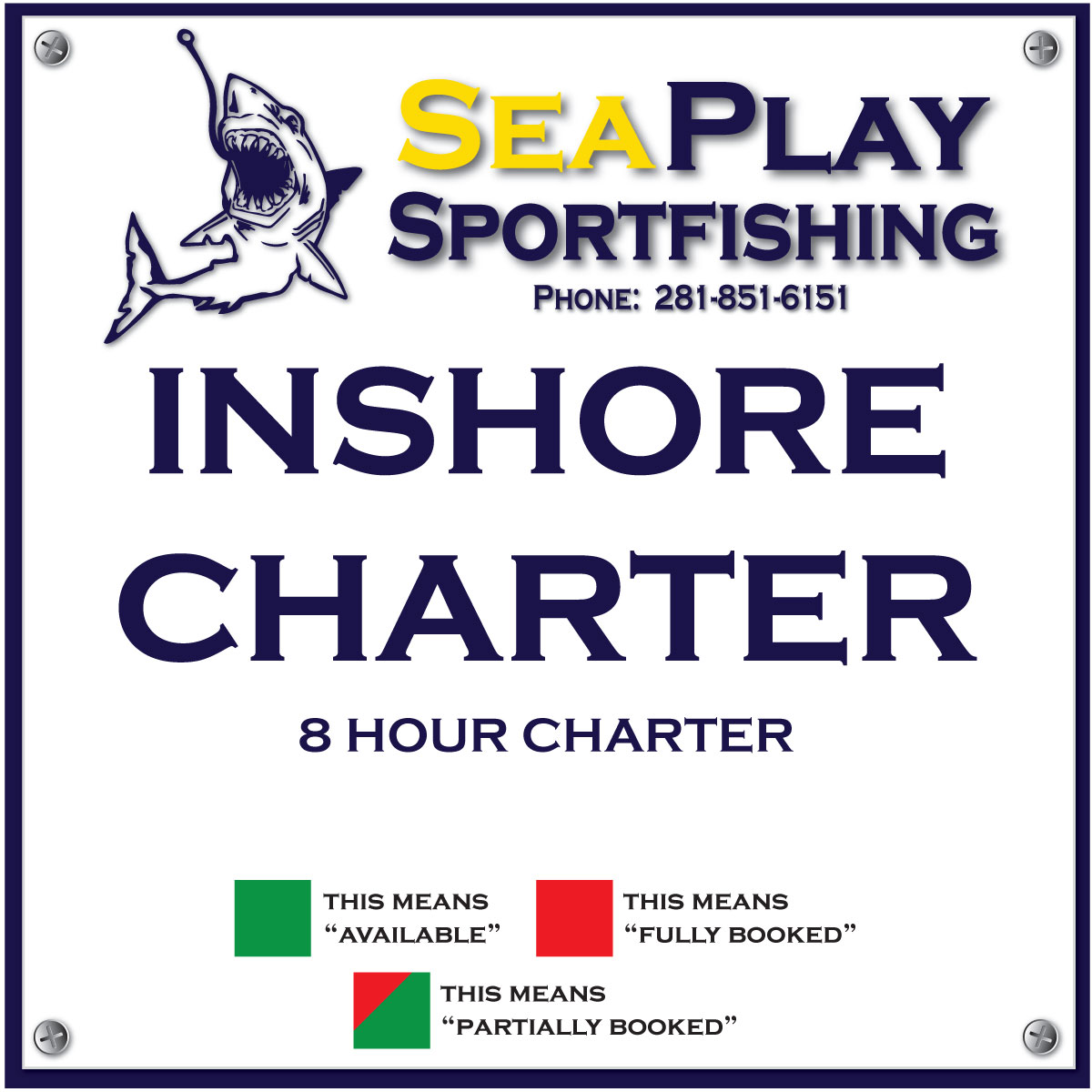 Inshore 8 Hour Charter